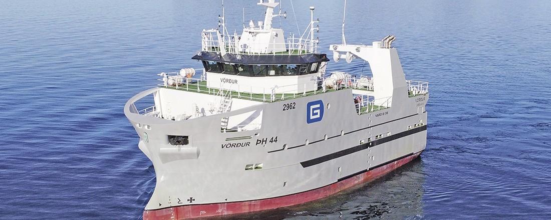 Skipet på bildet er det tidligere omtalte søsterskipet Vardur. Foto Vard