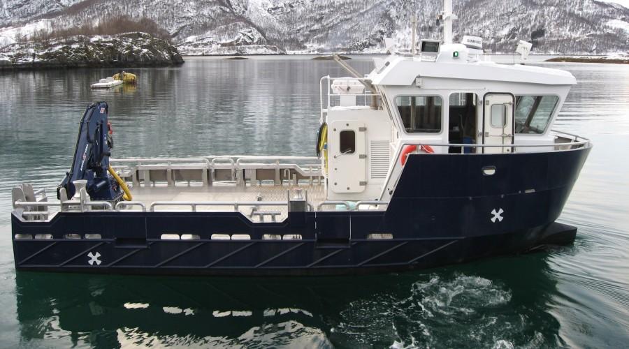 Bnr 148 blir lik bnr 94, Martta,  som verftet leverte til Egil Kristoffersen& Sønner i 2013, dog får nybygget større dekkshus. Arkivfoto: Grovfjord Mek. Verksted
