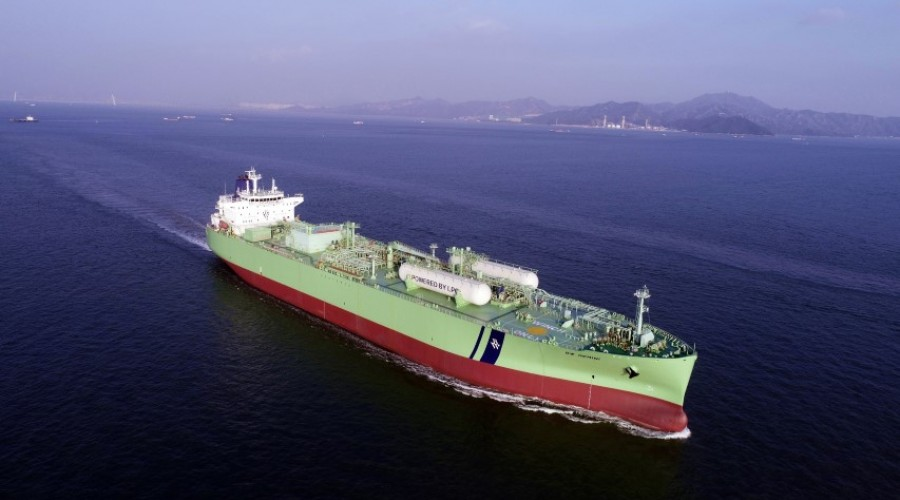 The BW Gemini, a VLGC from the BW LPG fleet, has had its MAN B&W main engine retrofited to a LGIP dual-fuel type, capable of operating on fuel oil and LPG.  Photo: BW LPG