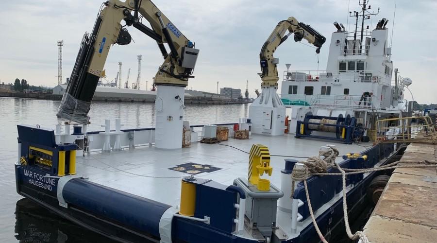Mar Fortune er bygd om fra supply til servicebåt. Foto: Amar Shipping