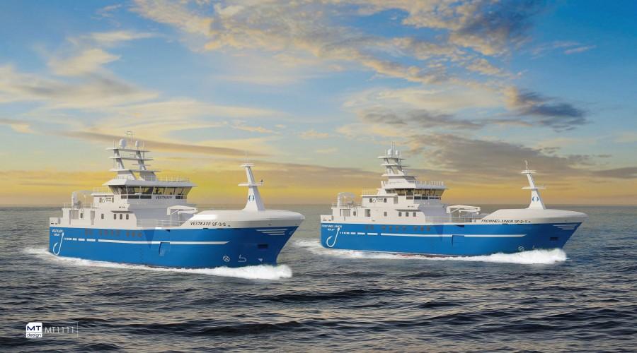 Marin Teknikk skal levere design og engineering for to nye linebåter. Illustrasjon: Marin Teknikk