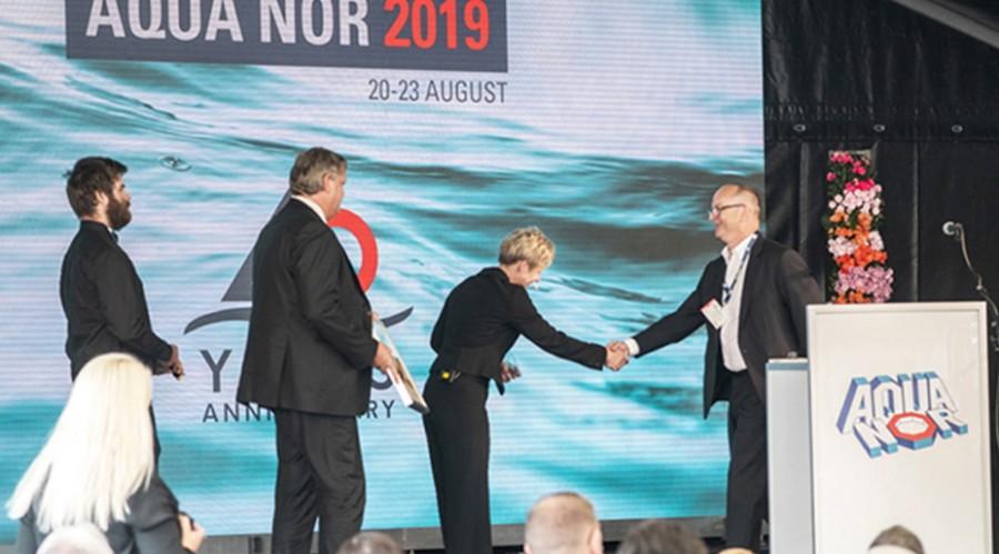 Fra overrekkelsen av Innovasjonsprisen i 2019. Foto: Nor-Fishing.