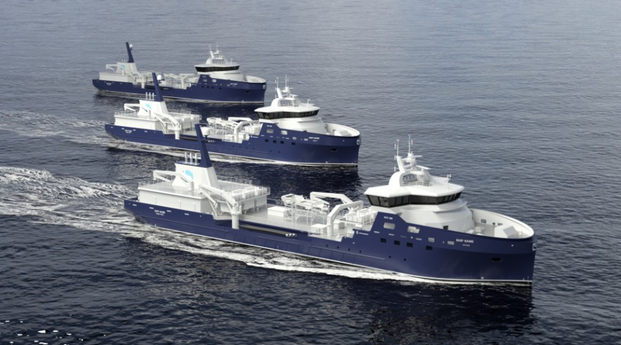 Myklebust Verft i Sande skal bygge enda ein brønnbåt for Sølvtrans Rederi.