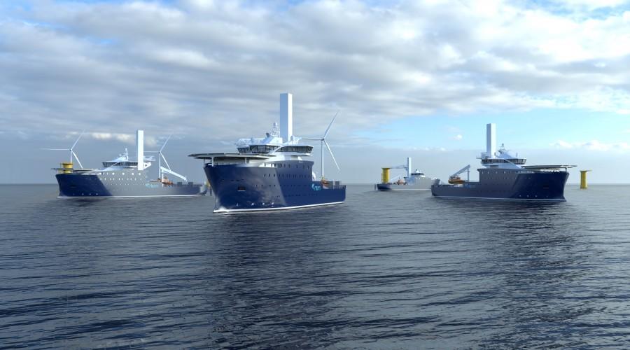 Vard 4 19 | Construction Service Operation Vessels (CSOV). Illustration: Vard.