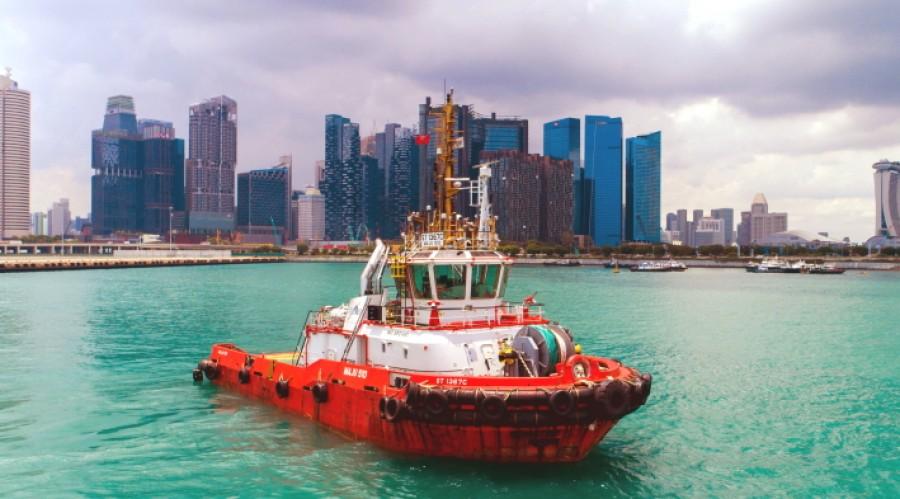 Harbor tugboat Maju 510 .Photo: ABB