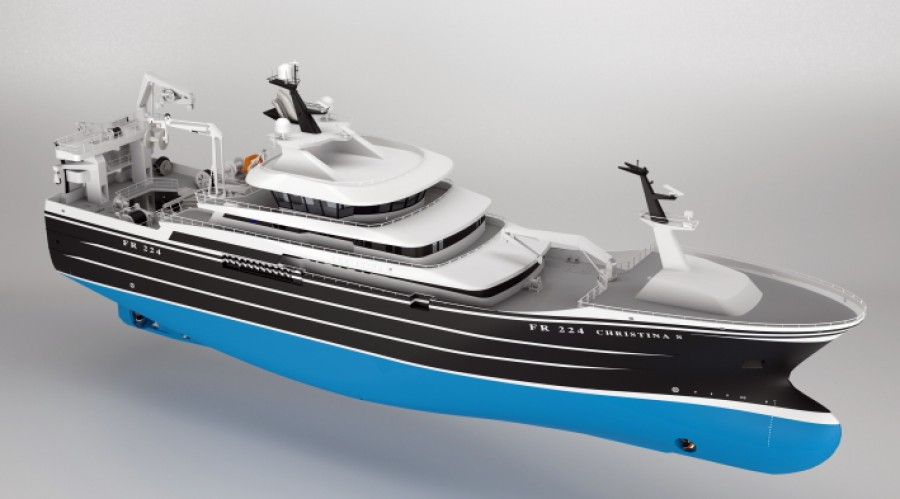 Karstensen Shipyard has, for the time being, orders for no less than 9 pelagic vessels, which are to be delivered throughout the next 2 years. Illustration: Karstensen Shipyard.