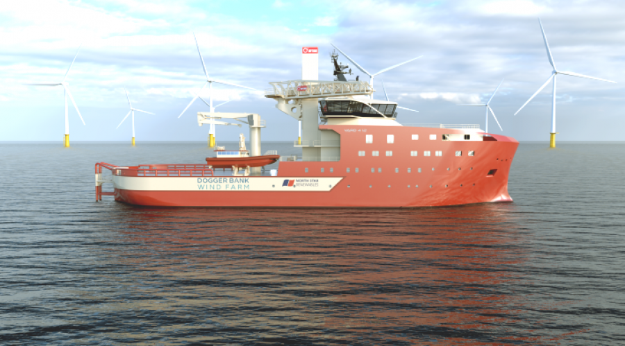 The work systems is to be included on their new build vessels for North Star Renewables to be built at Vard's Vard Vung Tau shipyard in Vietnam. Illustration: Vard.