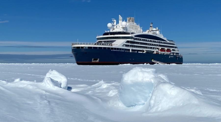 Pontants ekspedisjonsskip når Nordpolen med ABB-teknologi og setter nye standarder for cruise. Foto: Pontant-Nicolas Dubreuil.
