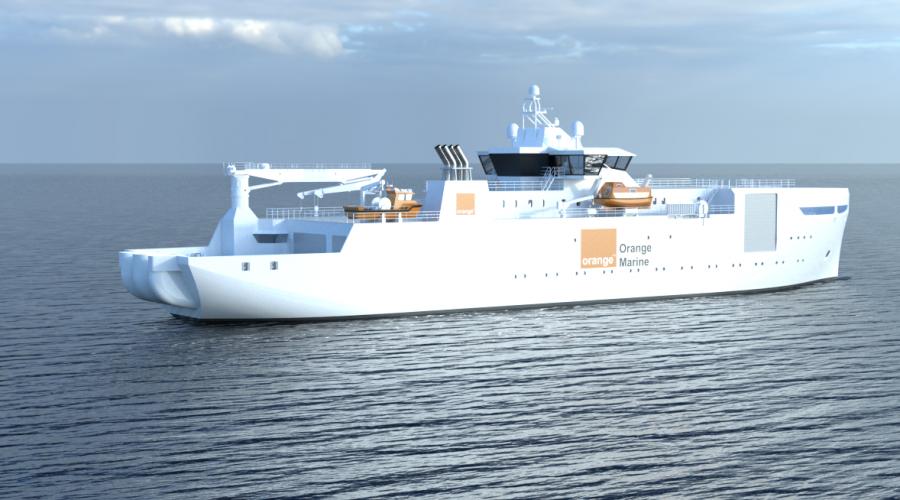 Fartøyet er utviklet av Vard Design for å møte spesifikke prioriteringer på energiforbruk og ytelse.  Foto: Orange Marine