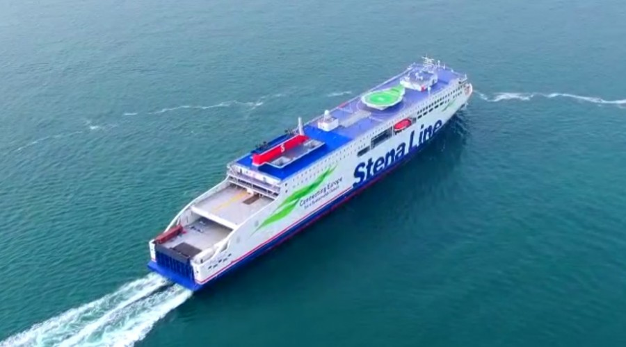 Stena Line is the largest ferry operator on the Irish Sea. The new ferry Stena Embla  is on schedule and set to arrive in Belfast at the end of 2020. Photo: Stena Line