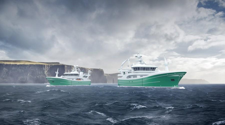 Salt Ship Design har vunnet designkontrakt på to trålere for irske Atlantic Dawn Group. Illustrasjon: Salt Ship Design