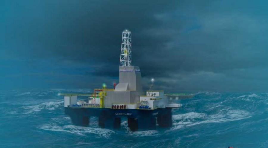 Awilco Drilling bygger boreriggar hos Keppel FELS -verftet i Singapore. Illustrasjon: Awilco