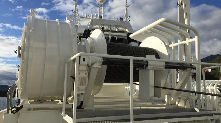 I tillegg til de avanserte vinsjene, skal Kongsberg Maritime levere et kontroll- og overvåkingssystem og et Variable Speed Drive (VSD) system