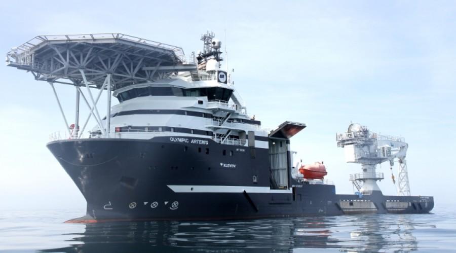 Olympic Artemis blir det første fartøyet med en total utrulling av Kongsberg Digitals datainfrastrukturtjeneste Vessel Insight. Foto: MMO Sara Sanches-Quinones.