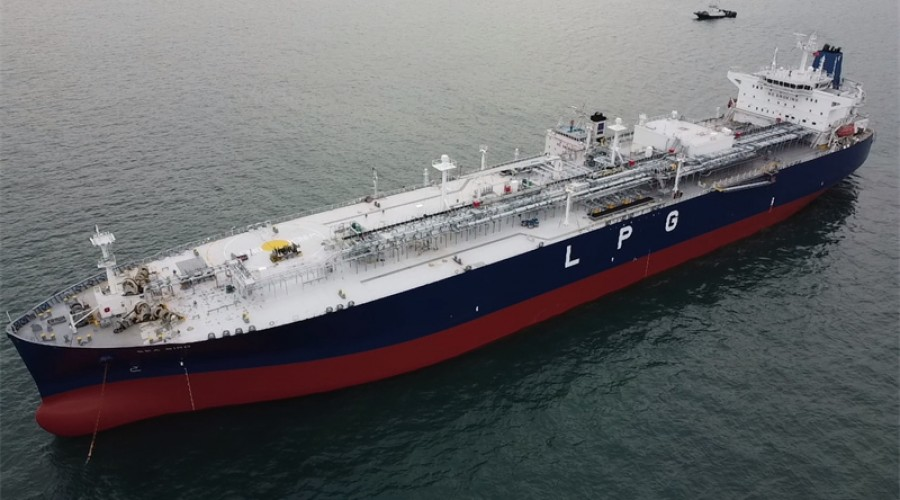 Six new Petredec 93,000 m3 capacity Liquid Petroleum Gas (LPG) carrier vessels will be supplied by Wärtsilä's Cargo Handling and Fuel Supply systems. Photo: Petredec.