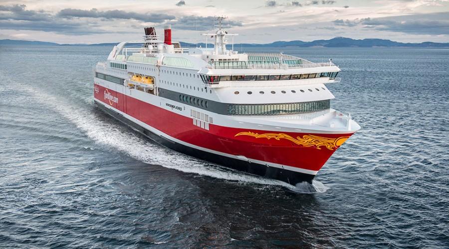 Bergensfjord og søsterskipet Stavangerfjord skal få mer lugarkapasitet. Foto: Fjord Line