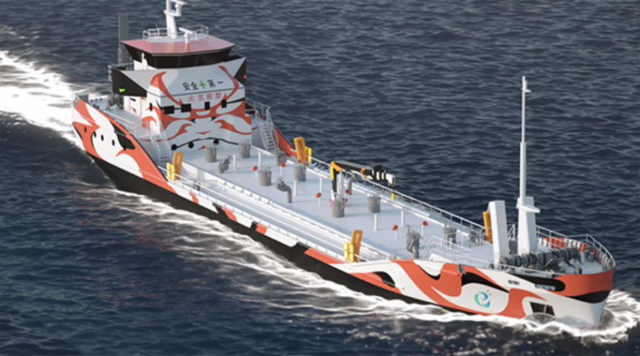 Corvus Energy already signed the first order in Japan for the world`s first fully electric coastal tanker under construction for Asahi Tanker. Photo: E5 Lab Inc