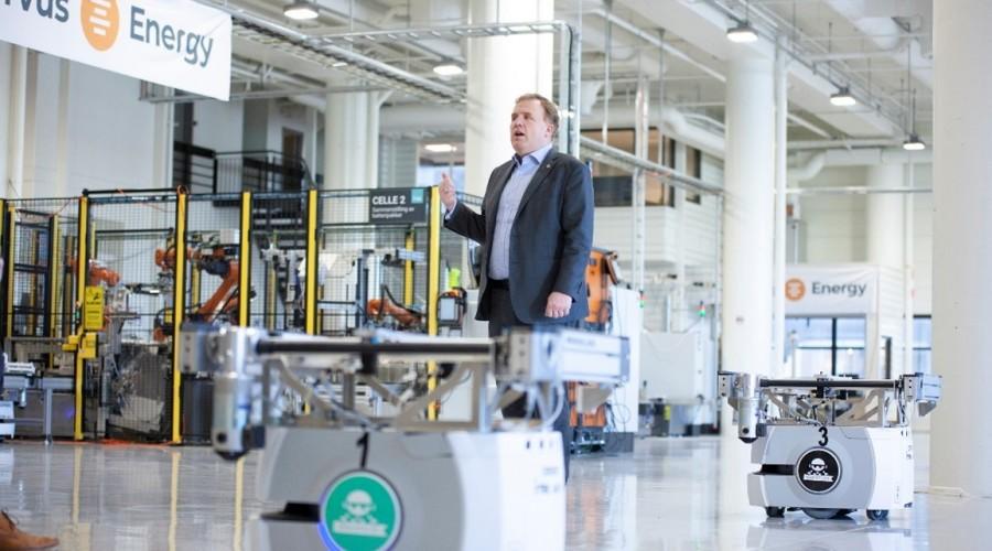 CEO i Corvus Energy, Geir Bjørkeli i Corvus sin Batterifabrikken  på Midtun i Bergen. Foto: Corvus