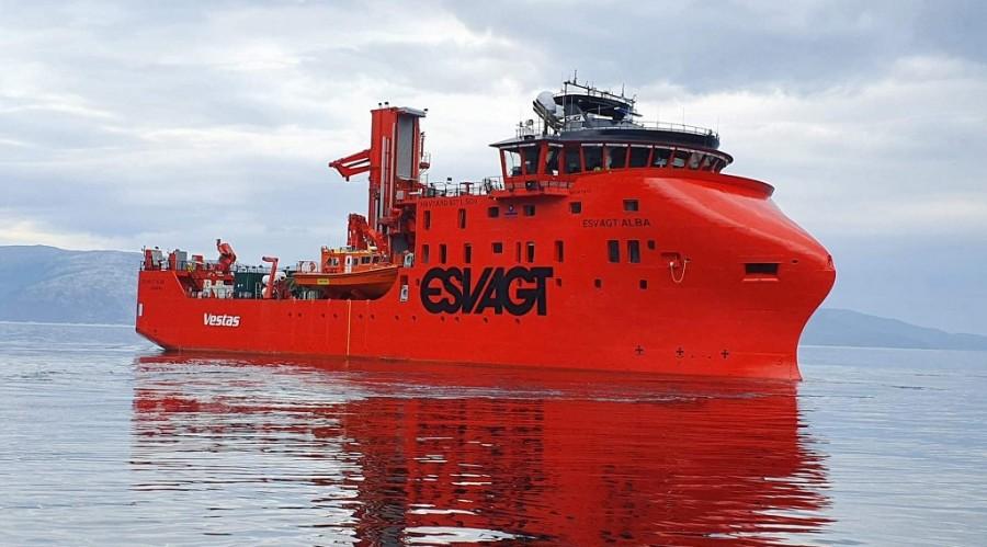 Teknisk-prøvetur for «Alba» i Sognefjorden. Foto: Havyard Leirvik AS
