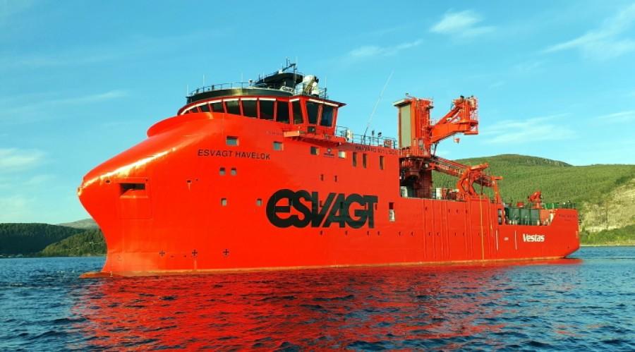 Nybygg 149 er det sjette havvind-skipet fra Havyard Leirvik. Foto: Havyard Leirvik AS