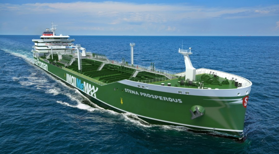Stena Prosperous will be methanol-powered. Photo: Proman Stena Bulk
