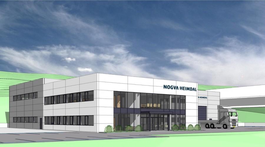 Nogva Heimdal Propulsion regner med å ta i bruk nye lokaler allerede til høsten. Illustrasjon Nogva Motorfabrikk.