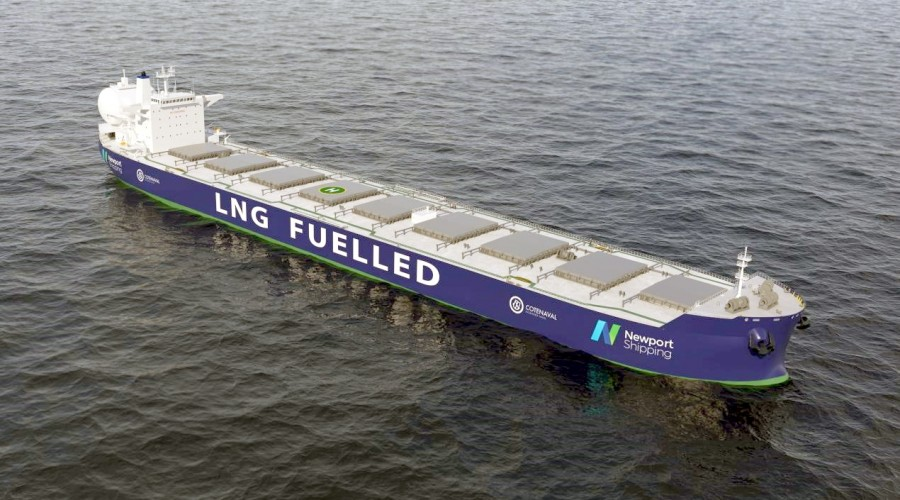 The use of a dual-fuel LNG engine can provide a commercially robust solution compared with alternative fuel technologies. Credit: Newport Shipping