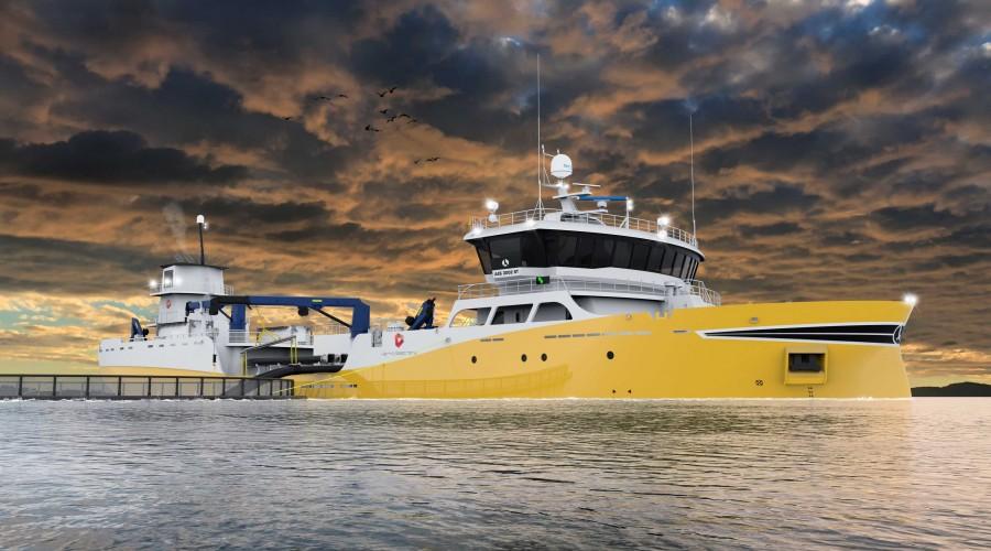 Aas Mek. Verksted skal bygge ny brønnbåt til Kerko Seatrans AS. Ill: Aas Mek. Verksted