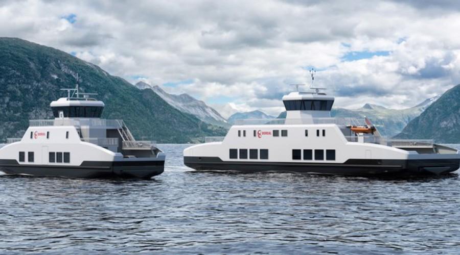 Slik blir ferjene som nå skal bygges for to samband i Agder. Illustrasjon: Boreal/Wärtsilä