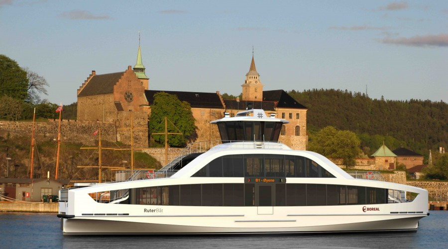 The new ferries will operate to-and-from the islands in the inner Oslo fjord. Illustration: Multi Maritime/Boreal