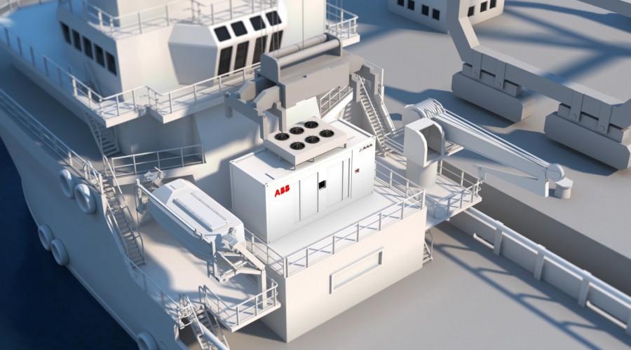 ABBs containerbaserte batterilagringsløsninger leveres i en standard 20 fot container. Illustrasjon: ABB