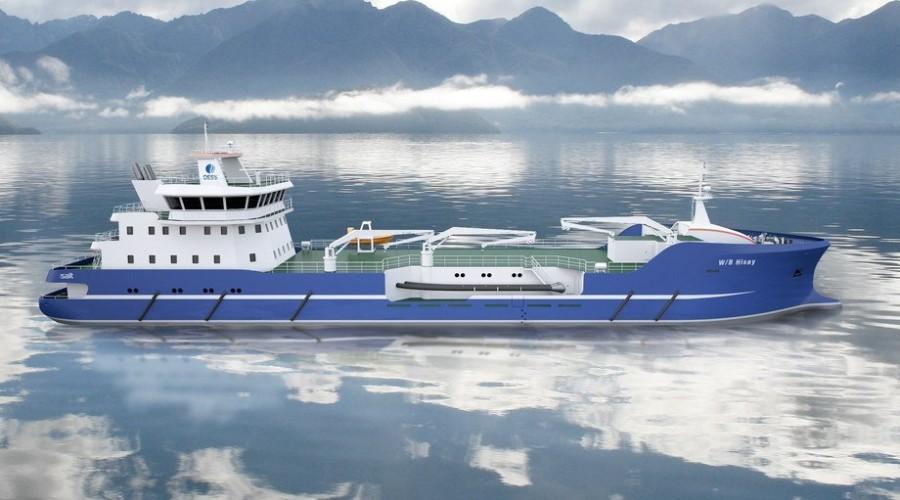 De to nye brønnbåtene som DESS Aquaculture Shipping nå har kontrahert er søsterskip til de to som Sefine-verftet i Tyrkia nå har under bygging. Illustrasjon: SALT Ship Design