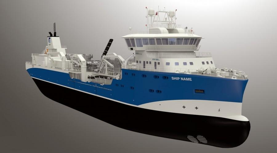 Den nye båten skal bygges ved Sefine i Tyrkia. Illustrasjon: HAV Design