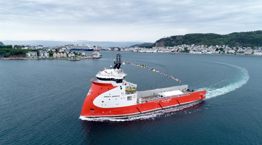 Nybygget Energy Empress skal på jobb for Røkkes Aker BP. Foto: Golden Energy Offshore