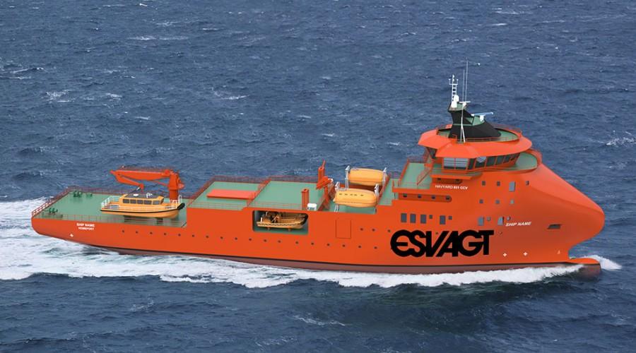 Havyard 931 CCV designet har gjennomgått omfattende tester, blant annet sjøegenskaper og drivstofføkonomi i grov sjø. Foto: Havyard
