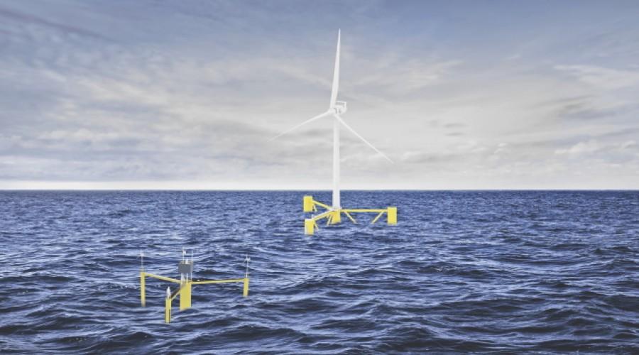 Moreld skal etabler et nytt flytende offshorevindselskap. Illustrasjon: Moreld.