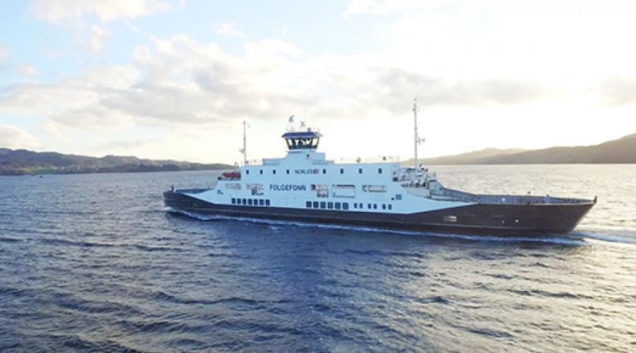 Ferja «Folgefonn» har gjennomført en vellykket test med autonom overfart. Foto: Wärtsilä