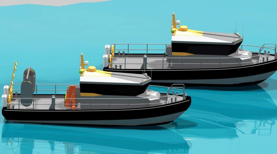 Hurtiggående, robuste og allsidige som passer til flere bruksområder. Illustrasjon: Hukkelberg Boats