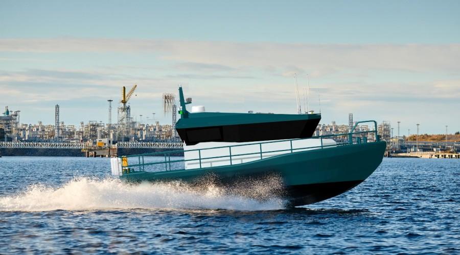 Hukkelberg Boats offer a wide range of professional duty aluminum workboats. Photo: Hukkelberg