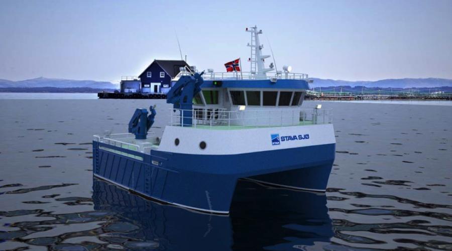 Slik kan det kommende nybygget se ut. Illustrasjon: Heimli Ship Design/Fitjar Mek. Verksted