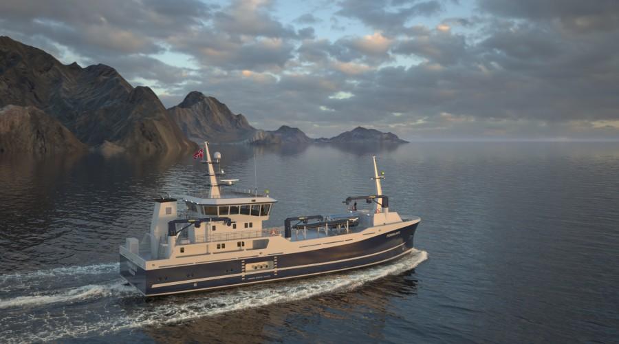 Fonnalaks er den nye hybride prosessbåten til Samlaks AS. Ill: Maritime Engineering