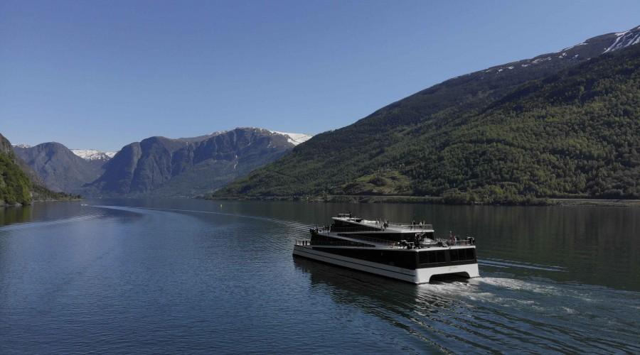 Future of The Fjords var den førre battericruisebåten frå Brødrene Aa. Den vart omtala i Maritimt Magasin nr. 6 2018. Foto: Brødrene Aa