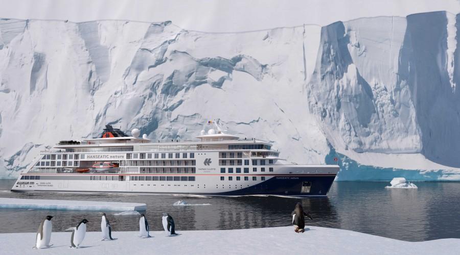 Hapag-Lloyd Cruises bestiller nå et tredje skip fra Vard med levering i 2021. Illustrasjon: Hapag-Lloyd
