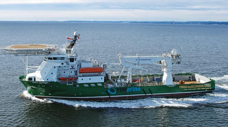 Havila Harmony skal arbeide utenfor Brasil. Foto: Havila Shipping.