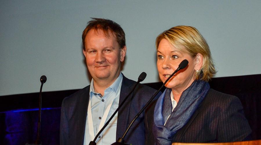 Lars Peder Solstad og Monica Mæland