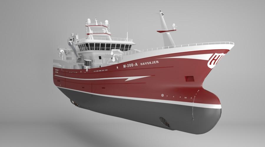 Karstensens Skibsværft i Danmark skal bygge nye Havskjer. Illustrasjon: Karstensens