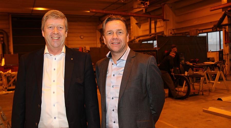 Leif Gjelseth (t.v.) sammen med styreleder i Havyard MMC, Geir Johan Bakke. Foto: Havyard