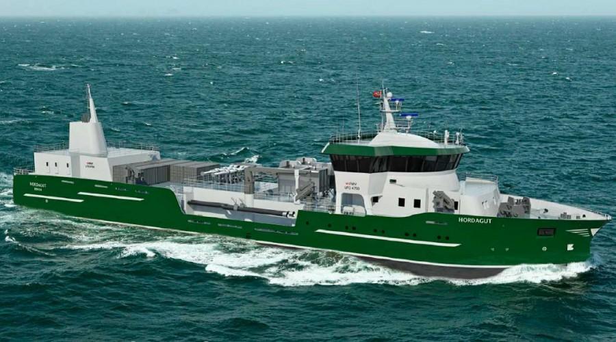 Hordagut byggast av Fitjar Mek. for Hordalaks AS. Illustrasjon: Heimli Ship Design