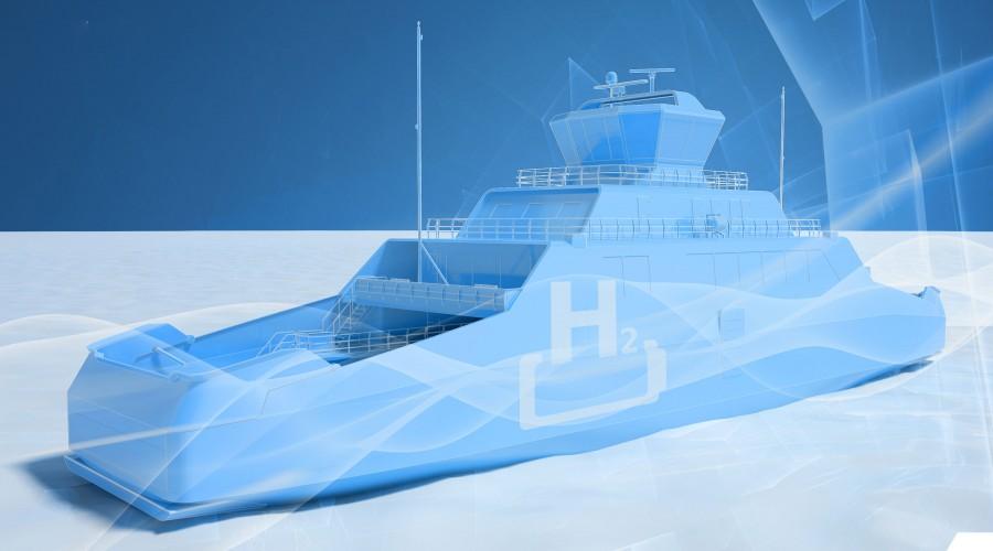 Boreal Sjø og Wärtsilä Ship Design samarbeider om en ny hydrogenferje. Ill: Wärtsilä/Boreal