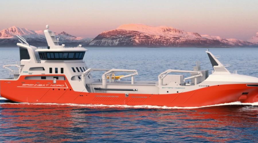 Illustrasjonsfoto fra Vågsfjorden med Rolla i bakgrunnen. Foto: Illustrasjon: NSK Ship Design.